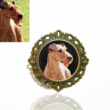 Bronze Photo Brooch