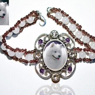 Photo Keepsake Victorian Stone Bracelet, Amethyst