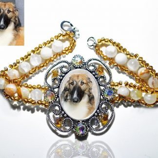 Photo Keepsake Victorian Stone Bracelet, Amber