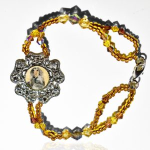 Amber Ice Photo Keepsake Bracelet