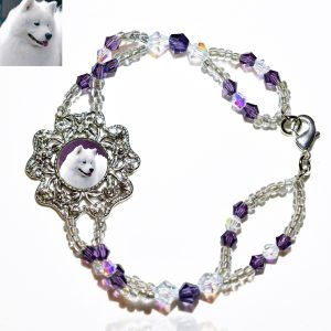 Amethyst Ice Photo Keepsake Bracelet