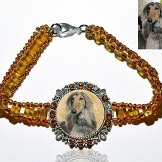 Photo Keepsake Amber Glass Bracelet