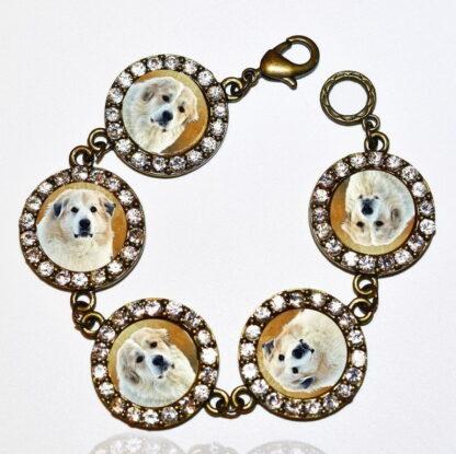 Photo Keepsake Bronze Crystals Bracelet