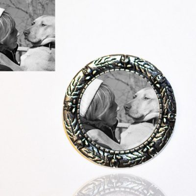 Silver Plated Photo Brooch